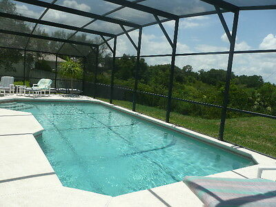 436 Florida villa rentals 3 bedroom home large pool and conservation view 1 week