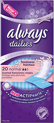Always Pantyliners Normal Freshness with Gentle Fresh Scent (20)