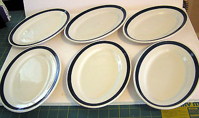 Vtg  Restaurant Ware China Luncheon Plates, 6, Cleve Pick-Carter Hotel, Iroquois