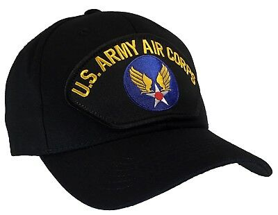 US Army Air Corps Hat Black Ball Cap Air Force WW 2 WWII USACC USAFF USA MADE!
