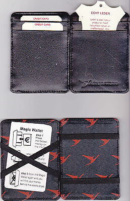 SURINAM AIRWAYS money and credit card wallet, new, genuine leather
