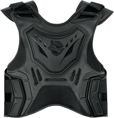 New Icon Field Armor Stryker Motorcycle Vest - Stealth  ALL SIZES