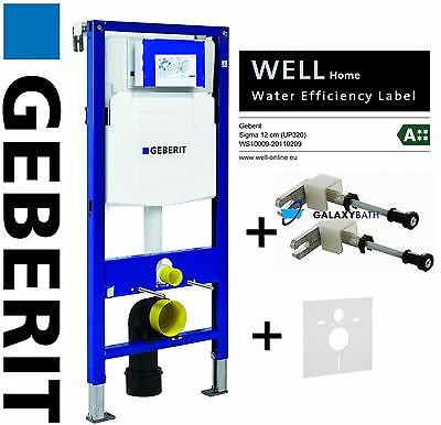 GEBERIT DUOFIX SET 3in1 WALL HUNG WC TOILET FRAME UP320 SIGMA CISTERN FIXED BLUE