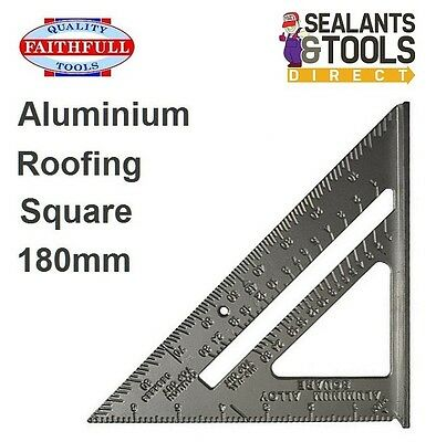 Faithfull Heavy Duty Aluminium Alloy Roofing Carpenters Square 180mm Wood Metal