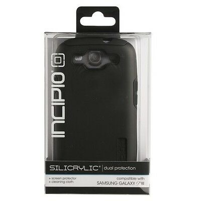 New OEM Incipio Faxion Hard Shell Case Cover For Samsung Galaxy S III  BLACK