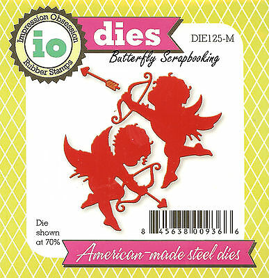 CUPID WITH HEARTS DIE-Impression Obsession//IO Stamps-Steel//Wafer Dies-Valentine