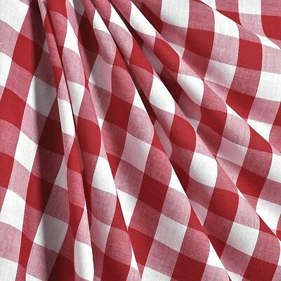 "30 ft Checkered Fabric 60"" Wide Gingham Buffalo Check Tablelcoth Fabric Decor"