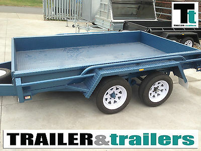 10x6 Heavy Duty Tandem Blue Trailer *NEW TYRES*