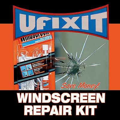 UFIXIT Windscreen Repair Kit DIY repair chips & cracks for CARS TRUCKS BIKES..