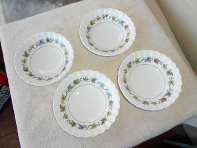 4 J&G Meakin Woodland Dessert /Berry Bowls Classic White England Unmarked