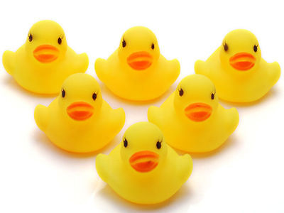 20PC Wholesale Bulk Lots Cute Rubber Ducks baby kids Children bath Toy 4x4x4.5CM