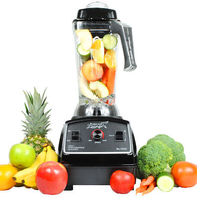 New 3Hp High Performance Pro Commercial Fruit Smoothie Blender + Juice Mixer )