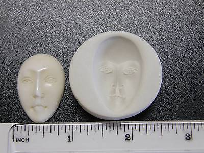 Large Face Polymer Clay Mold 32mm Open Eyes (#MD1115)