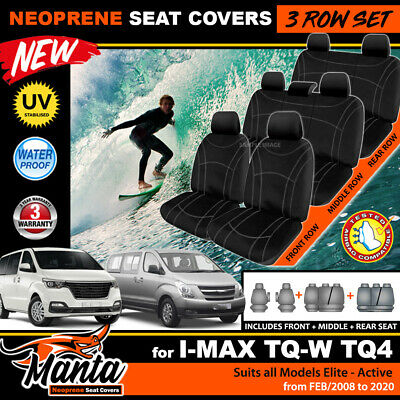 TUFF HD CANVAS Mazda BT-50 Single CAB Custom Seat Covers 11/2011-2018 BT50 CHARC