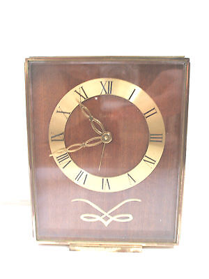 Swiza Swiss 7 Jewels 8Day Gilded Metal Case Winding Movement Alarm Mantle Clock • £89.00