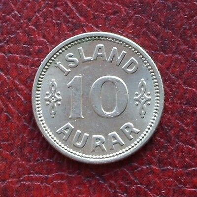 Iceland 1929 copper-nickel 10 aurar