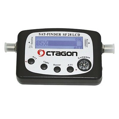 Octagon Satfinder SF 28 LCD Display mit Ton Sat Finder Kompass NEU
