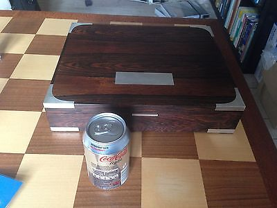 HUGE Hans Hansen Sterling Silver and Palisander/Rosewood box. Very Rare