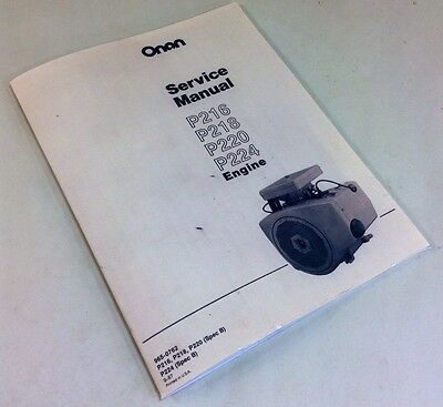 Onan Engine 16 18 20 24 Hp Service Repair Overhaul Manual