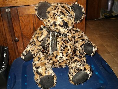 OOAK ONE OF A KIND HAND MADE? CHEETAH LEOPARD PRINT JOINTED TEDDY BEAR PLUSH
