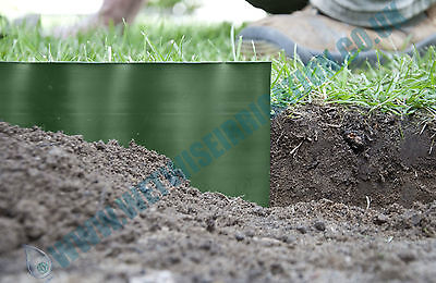"""Lawn Edge Grass Edging Green / Brown plastic flexible strong small 4"""""""