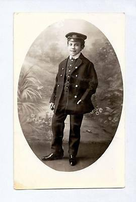C1910 Rp Npu Postcard Vaudeville Boy Actor E Sanvidge Dressed As Sailor L11