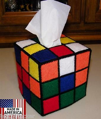 Rubik's Rubiks Rubix Cube Tissue Box Cover Seen on TBBT TV SHOW Style #2 Hand