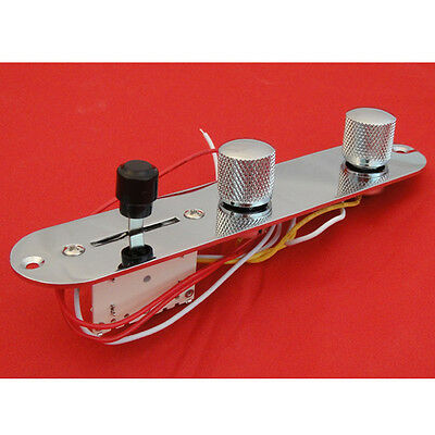 1PCS Chrome Loaded Switch Control Plate for Tele Style Guitar