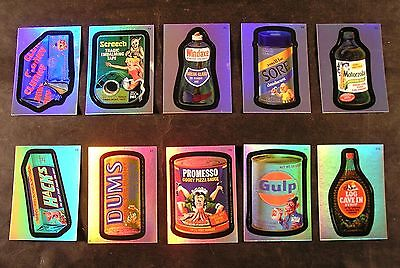 2007 Topps Wacky Packages ANS5 Series 5 RAINBOW FOIL SET of 10 nm+