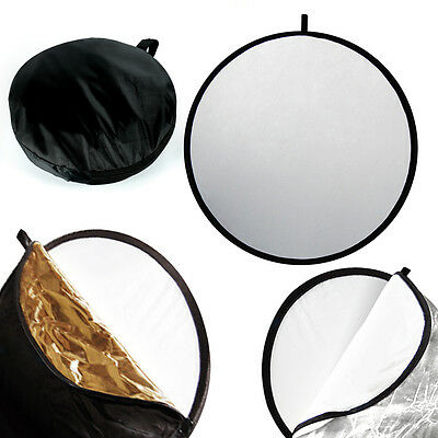 """110CM 43"""" 5-in-1 Collapsible Multi-Disc Light Studio Photo Reflector"""