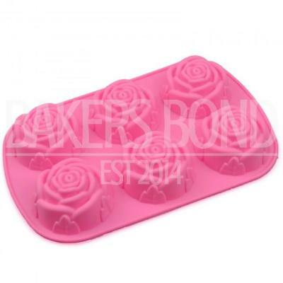 6 Cavity Large Rose Flower Chocolate Cake Topper Silicone Baking Mould