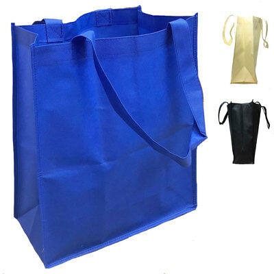 3 LOT LARGE Grocery Shopping Bag Bags Reusable Tote Totes with Gasset BULK
