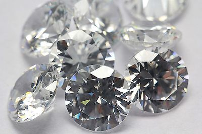 Cubic Zirconia Russian CZ AAA Brilliant Cut Rounds Loose Gemstone Lot 1mm to 8mm