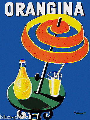 orangina villemot vintage french 70cm x 50cm art  print  advert