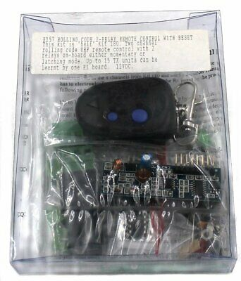 Rolling Code 2-Channel UHF Remote Control Kit - Requires Assembly