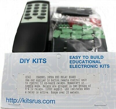 12 Channel Infrared Relay Board Kit  - Requires Assembly