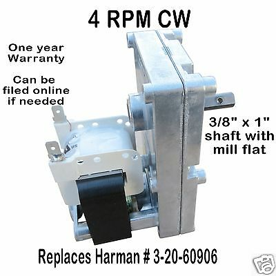 Harman Auger Feed Motor  [Xp7004]  Accentra Insert & P-Series   3-20-60906  4Cw