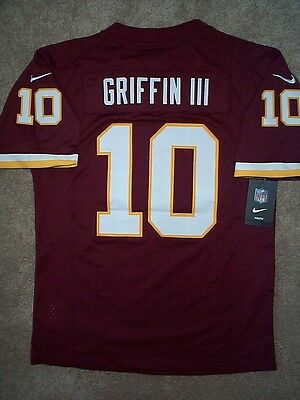 EUC NIKE ON Field Washington Redskins Stitched Logo Jersey #10 RG3  for sale