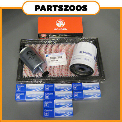 Holden Commodore VS V8 Genuine Service Kit Air Fuel Oil Filter Spark Plugs New