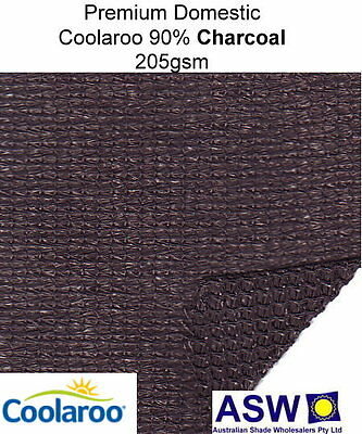 90% UV 3.66m (12') Wide CHARCOAL SHADECLOTH Coolaroo EXTREME Shade Cloth