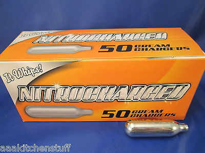 100 Whipped Cream Charger whip it N2O Nitrous Oxide 8g N20  2 boxes 50 Nitro