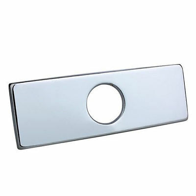 "New Chrome Spares Accessories 4"" Squared Deck Plate for Single Hole Mixer Tap"