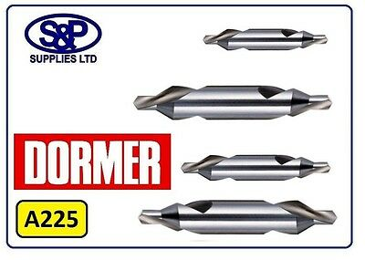 """Dormer A225 Centre Drills -  Bs1 1/8"""" To Bs5 7/16"""" Professional Quality To Bs328"""