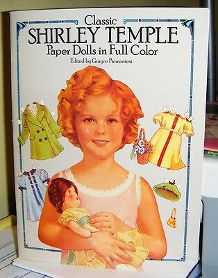 1986 SHIRLEY TEMPLE PAPER DOLLS Classic Full Color Dover Uncut Mint in Book