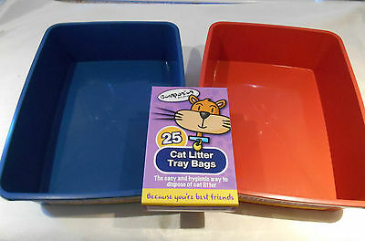 Cat Litter Tray and / or Liners Bags 24 Pack