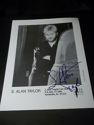 S. ALAN TAYLOR Signed AUTOGRAPHED 8X10 PHOTO COUNTRY MUSIC ARTIST FAN FAIR 94
