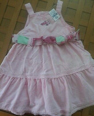 NWT The Childrens Place Baby Girl Pink Corduroy Sleeveless Dress Size 12m