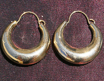 Gorgeous14K Gf Gold Filled Perfect Huggie 17 Mm Shiny Thick Hoop Earrings