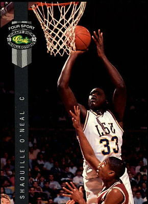 1992 Classic Four-Sport  #1 Shaquille O'Neal