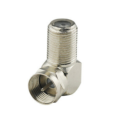 90 Degree Right Angle F-Type Connector Adapter Male-Female Coaxial TV cable 75 Ω